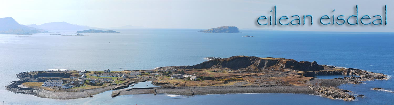 aerial view of Easdale Island